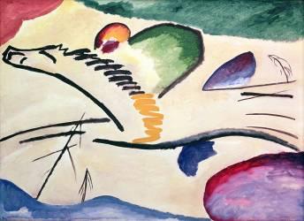 Le cavalier (Wassily Kandinsky) - Muzeo.com