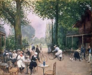 Le Chalet du cycle au bois de Boulogne (Jean Béraud) - Muzeo.com