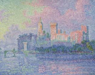 Le château des Papes à Avignon (Paul Signac) - Muzeo.com