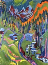 Le Chemin de Sertig en Ete (Ernst Ludwig Kirchner) - Muzeo.com