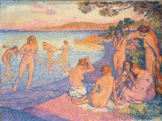 Le coucher de Soleil : l'Heure Embrasée (Theo van Rysselberghe) - Muzeo.com