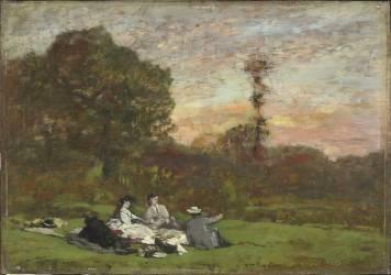 Le déjeuner sur l'herbe (Boudin Louis-Eugène) - Muzeo.com