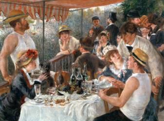 Le dejeuner des canotiers (Pierre Auguste Renoir) - Muzeo.com