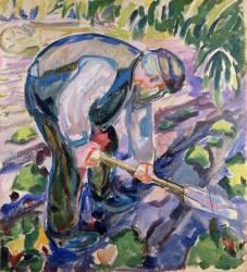 Le fossoyeur (Edvard Munch) - Muzeo.com
