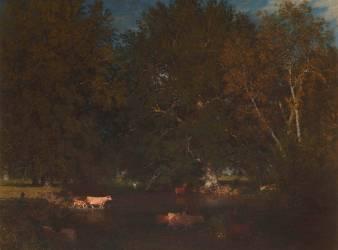 Le gué de Montboulan, en Sologne (Belly Léon Adolphe Auguste) - Muzeo.com