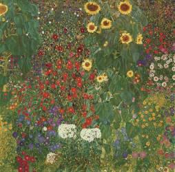 Le jardin aux tournesols (Jardin Breweru à Litzlberg sur l'Attersee) (Klimt Gustav) - Muzeo.com
