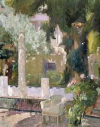 Le jardin de la famille Sorolla (Joaquin Sorolla y Bastida) - Muzeo.com