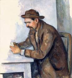 Le joueur de cartes (étude) (Paul Cézanne) - Muzeo.com