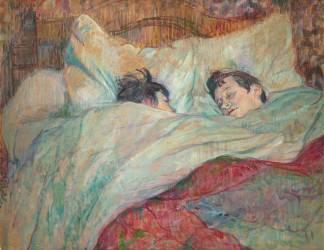 Le lit (Toulouse-Lautrec Henri de) - Muzeo.com