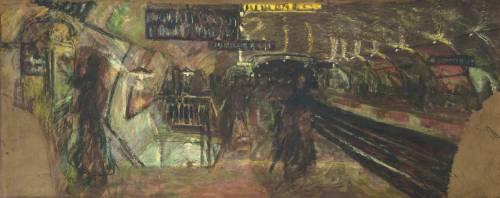 Le métro, la station Villiers (Edouard Vuillard) - Muzeo.com