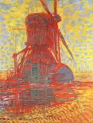 Le moulin Winkel en plein soleil (Mondrian Piet) - Muzeo.com