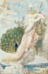 Le Paon se plaignant à Junon. Etude pour les Fables de La Fontaine (Gustave Moreau) - Muzeo.com