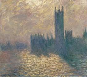 Le Parlement à Londres, ciel orageux (Monet Claude) - Muzeo.com