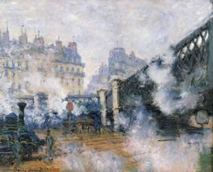 Le Pont de l'Europe, Gare Saint-lazare (Claude Monet) - Muzeo.com