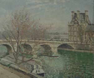 Le Pont Royal et le pavillon de Flore (Pissarro Camille) - Muzeo.com