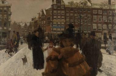 Le Pont Sigel près de la Paleisstraat à Amsterdam (George Hendrik Breitner) - Muzeo.com