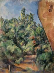 Le rocher rouge (Paul Cézanne) - Muzeo.com