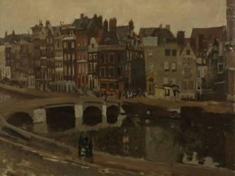 Le Rokin à Amsterdam (George Hendrik Breitner) - Muzeo.com