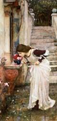 Le sanctuaire (John William Waterhouse) - Muzeo.com
