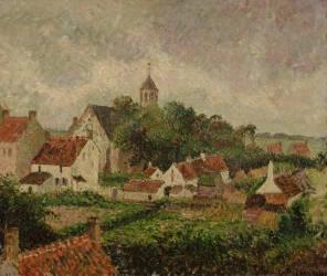 Le village de Knocke (Camille Pissarro) - Muzeo.com