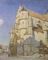 L'Eglise de Moret (Le soir) (Alfred Sisley) - Muzeo.com