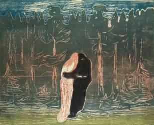 Les amants (Edvard Munch) - Muzeo.com