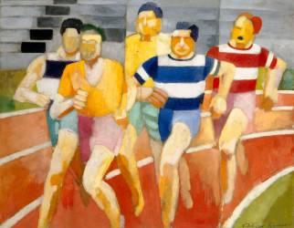Les coureurs (Delaunay Robert) - Muzeo.com