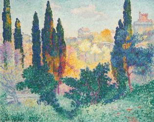 Les cyprès à Cagnes (Cross Henri-Edmond) - Muzeo.com