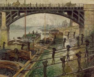 Les Déchargeurs de charbon (Claude Monet) - Muzeo.com
