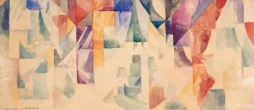 Les Fenêtres Simultanées (Robert Delaunay) - Muzeo.com