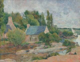 Les Lavandières à Pont-Aven (Paul Gauguin) - Muzeo.com