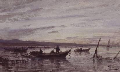Les pêcheurs de Martigues (Félix Ziem) - Muzeo.com