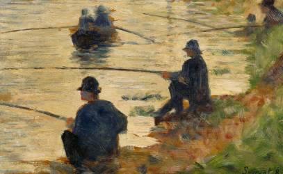 Les pêcheurs à la ligne, étude pour le Grande Jatte (Georges Seurat) - Muzeo.com