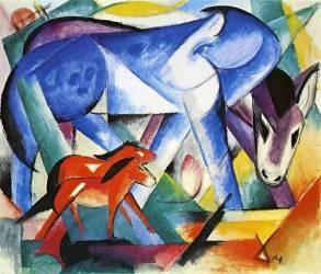 Les premiers animaux (Franz Marc) - Muzeo.com