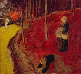 Les Ramasseuses de Fougères au Boix d'Amour à Pont-Aven (Paul Serusier) - Muzeo.com