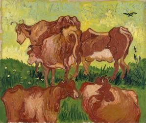 Les vaches (Van Gogh Vincent) - Muzeo.com