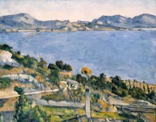 L'Estaque - Vue du Golfe de Marseille (Cézanne Paul) - Muzeo.com