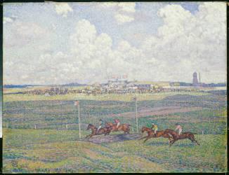 L'hippodrome de Boulogne-sur-Mer (Theo van Rysselberghe) - Muzeo.com