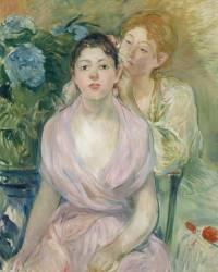 L'hortensia ou les deux soeurs (Morisot Berthe) - Muzeo.com