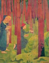 L'Incantation, ou Le Bois Sacré (Paul Serusier) - Muzeo.com