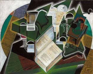 Livre, Pipe et Verres (Juan Gris) - Muzeo.com