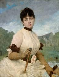 Madame Toulmouche, femme du peintre (Jules Elie Delaunay) - Muzeo.com