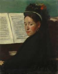Mademoiselle Dihau au piano (Edgar Degas) - Muzeo.com