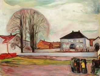 Maison à Aasgaardstrand (Edvard Munch) - Muzeo.com