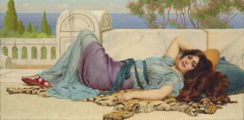 Malice et Repos (John William Godward) - Muzeo.com