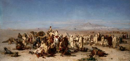 Marché arabe dans la plaine de Tocria (Gustave Guillaumet) - Muzeo.com