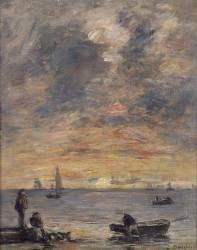 Marine, soleil couchant (Louis-Eugène Boudin) - Muzeo.com