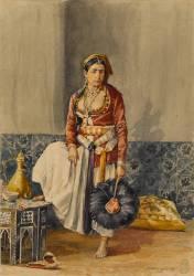 Mauresque d'Alger en costume d'intérieur (Emile Marquette) - Muzeo.com