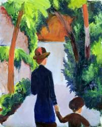 Mère et Enfant dans le Parc (August Macke) - Muzeo.com