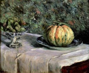 Melon et Bol de Fruits avec Figues (Gustave Caillebotte) - Muzeo.com
